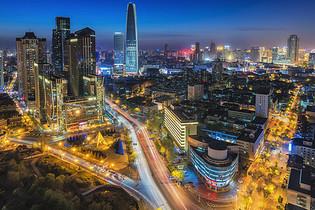 繁华的天津现代滨江道商业区图片