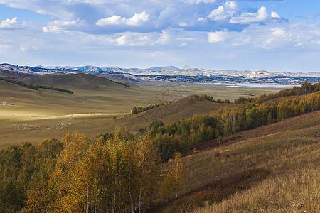山峦叠嶂的内蒙古乌兰布统草原图片