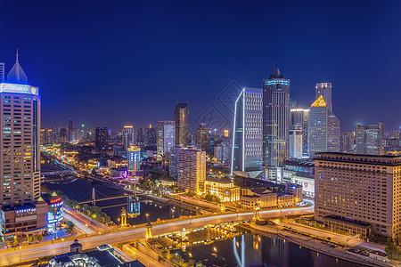 天津大光明桥夜景图片