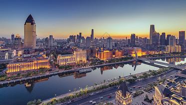 天津五大院夜景图片