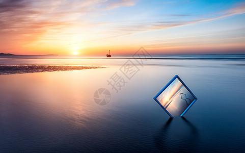夕阳如画图片