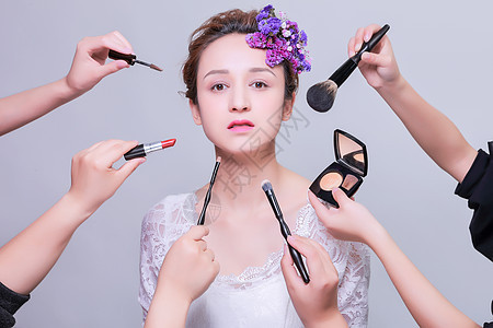 清新美女美妆美容图片