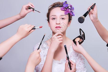 清新美女大气创意化妆展示图片