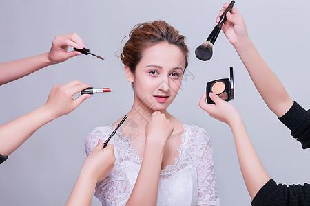 清新立体美女大气化妆展示图片
