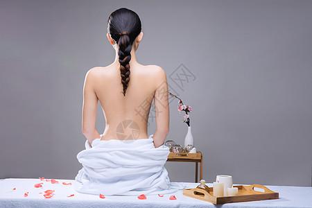 美容养生美女背部展示图片