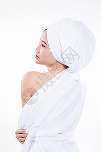 性感浴袍美女美容美肤形象图片