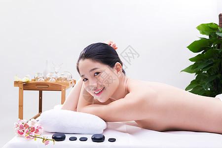 美容养生环境甜美美女spa留白图片