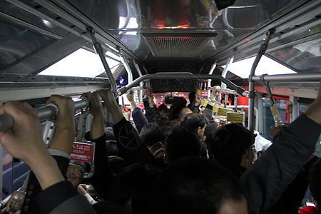 堵车的公交 手臂图片
