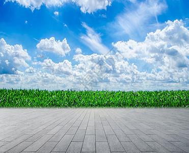 蓝色环保背景图片