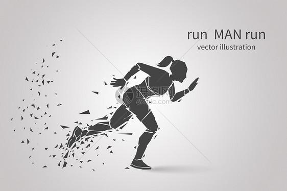 奔跑的人图片
