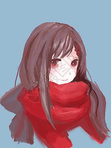 冬天里的小女孩图片