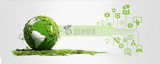 数据时代绿色科技环保地球背景图片