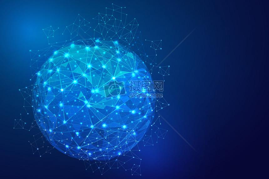 科技地球蓝色背景图片