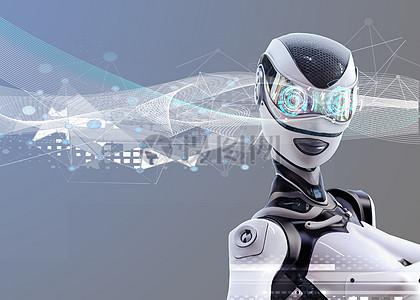 虚拟科技生活人工智能机器人图片
