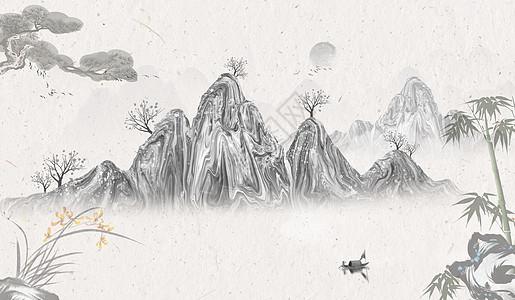 孤帆远影banner海报背景图片