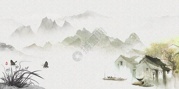 踏青banner海报背景图片