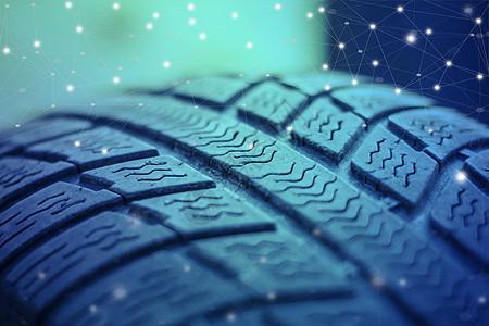 炫彩车胎纹路图片