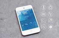 苹果手机手机天气预报应用图片