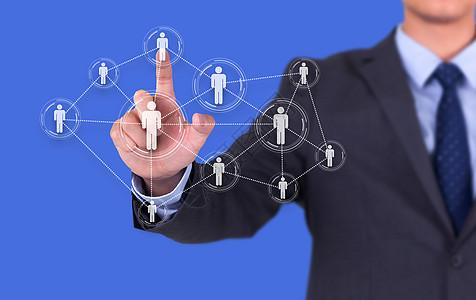 商务点击地球上的关系圈图片