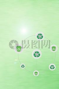 绿色标志环保背景图片