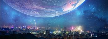 炫酷城市背景素材图片