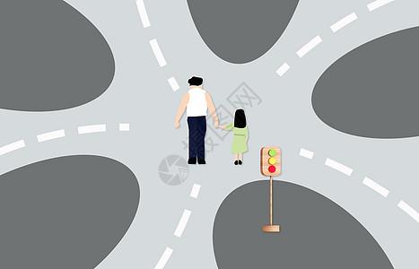 卡通人物岔路口纠结男人图片