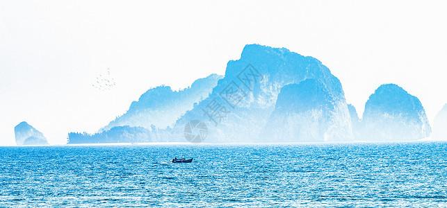 海上仙山图片
