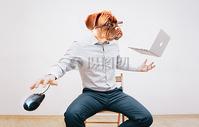 工作办公加班单身狗狗头人身图片