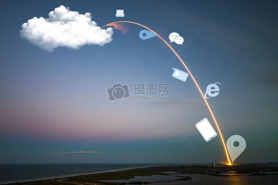 智能科技时代云服务生活图片