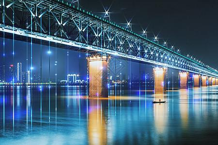 唯美大桥科技背景图片