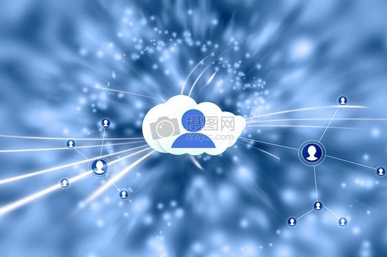 智能科技时代云服务连接用户图片