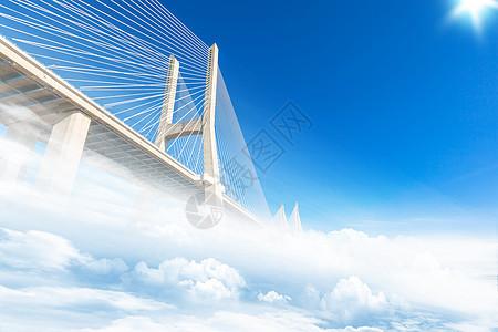 铁拉大桥摄影图片
