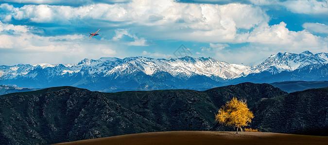 雪山光影图片