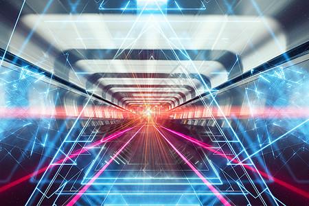 时空隧道科技背背景图片