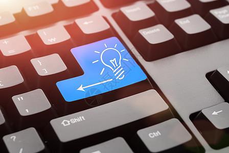 智能科技生活键盘上的创意图片