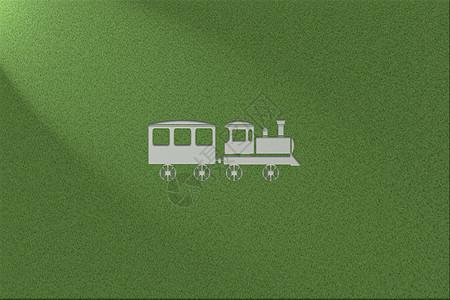 绿色环保健康草地背景火车图片