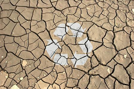 干涸土地环保背景图片