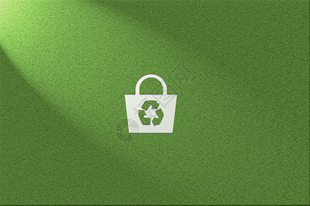 绿色环保健康草地背景垃圾循环利用logo图片