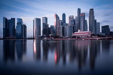 城市清晨图片