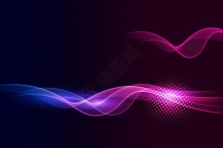 炫彩渐变线条曲线背景素材图片