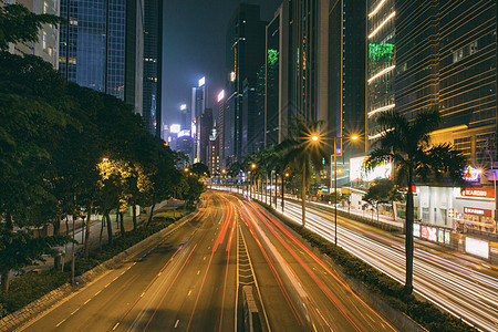 香港街头公路车流图片