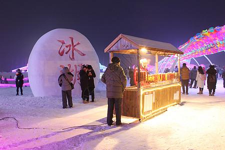 元旦哈尔滨看冰灯图片