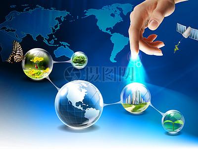 手碰地球的网络连接图片
