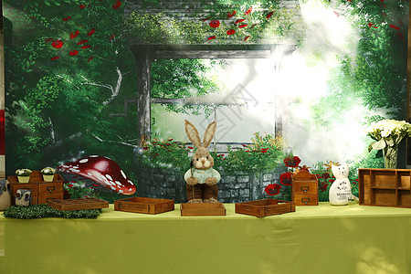 卡通兔子背景图片