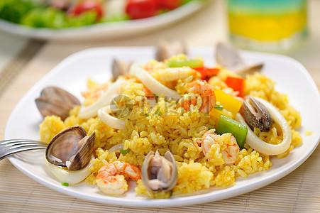 中餐海鲜炒饭图片