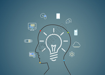 智能科技时代创意人物应用图片