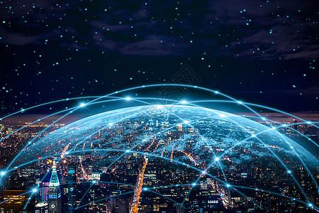 地球下的夜景城市图片