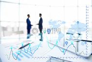 商务数据合作男人图片