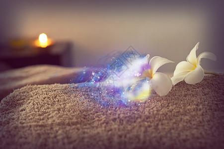 白色的菊花随风飘散化成星河图片