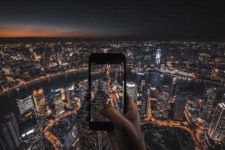 手机里的上海图片